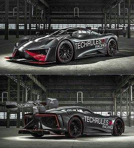 日内瓦车展:1,287匹马力单座设定,中国电动车厂Techrules发表Ren RS概念赛车