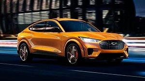 福特首部纯电动车Mustang Mach-E电动休旅大玩色彩,追加数位橘与暗物质灰的时尚车色